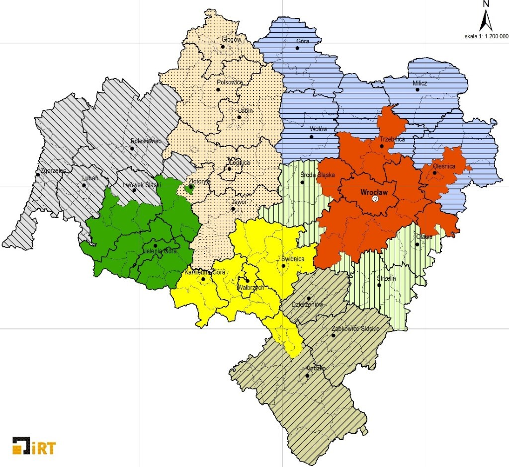 mapa ZIT dofinansowanie woj. dolnośląskie